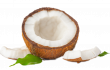cracked-coconut-with-leaves-isolated-white